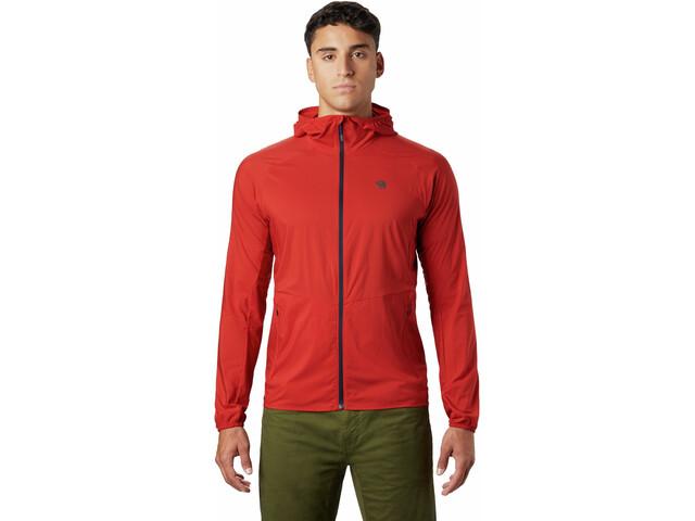 Mountain Hardwear Kor Preshell Veste à capuche Homme, desert red